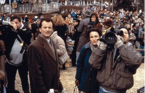 Groundhog Day movie image Bill Murray and Andie MacDowell