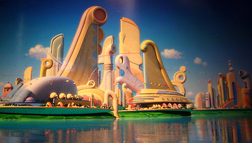 meet the robinsons future city scene
