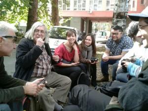 JR with Bela & students in Sarajevo